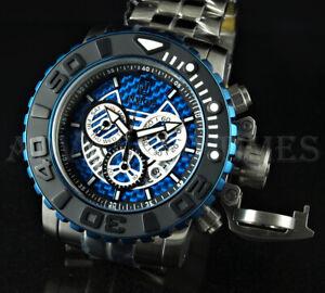 Invicta 70mm Jason Taylor Sea Hunter II Ltd. Ed. Chronograph BLUE Dial SS Watch