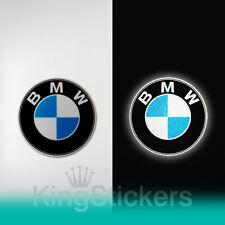 2 adesivi BMW logo - RIFLETTENTI PVC casco moto stickers Reflective