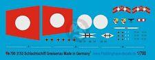 Peddinghaus 1/700 Gneisenau German Battleship WWII Markings (w/Floatplane) 3153