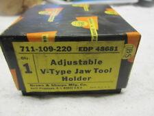 New Brown & Sharpe Adjustable V-type Jaw Tool Holder 711-109-220