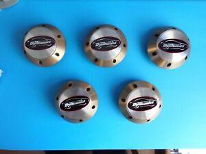Rare set of 5 Bronze finish Metal Team Dynamics Pro Race 1.2 (H085) Caps