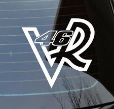 2 x VALENTINO ROSSI 46 VR DUB Drift JDM EURO FUNNY-VINYL-Decalcomanie-Adesivi