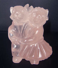 Cute Mice Get Married Collectible 4 Home Decor: Hand-Carved Natural Rose Quartz