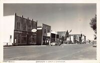 Real Photo Postcard Business Street Scene in Dryden, Ontario, Canada~129774