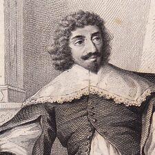 Portrait XIXe Jean-Louis Guez de Balzac Angoulême Louis XIII