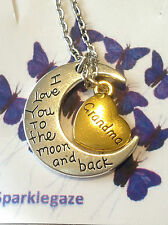 BRAND NEW GRANDMA LOVE YOU TO THE MOON AND BACK NECKLACE PENDANT AUS SELLER 11