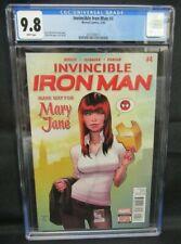 Invincible Iron Man #4 (2016) Marquez Cover Mary Jane Marvel CGC 9.8 CE511