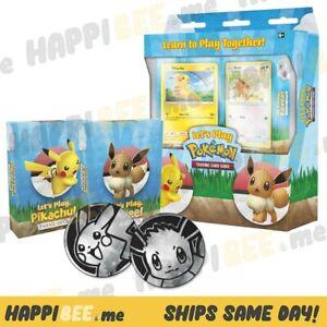 Let's Play Pokemon TCG Box🍯Pikachu + Eevee Card Theme Deck (120 Cards) Foils