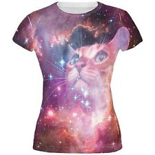 Galaxy Cat All Over Juniors T-Shirt