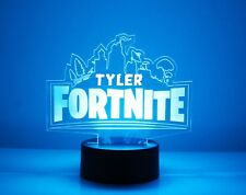 Fortlite 3D Personalized Night Light Lamp LED PS4 USB Color Change Gift Gamer
