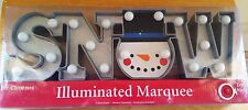 Mr Christmas Snow Holiday Light Up Illuminated Marquee Word Christmas Decor 5''