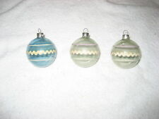 Vintage unsilvered Wwii era, 1940s Shiny Brite Christmas ornaments