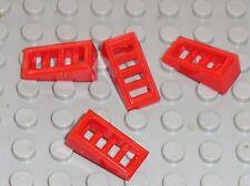 4 x LEGO Red Slope Brick Grille ref 61409 / Set 70146 7207 7206 60097 70727 7679
