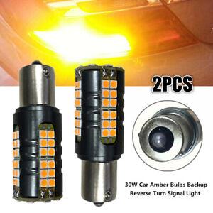 2X 30W LED 3030 900LM Car Amber Bulbs Backup Reverse Turn Signal Amber Light Kit