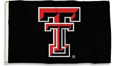 Texas Tech Red Raiders BLACK Premium 3x5 Flag Outdoor House Banner University