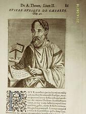 1584 André Thévet. Xilo_ EUSEBE EVESQUE DE CAEASAREA+++