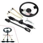 Steering Wheel Steel Kit Gear Rack Pinion Adjustable Shaft Set For 110cc Go Kart