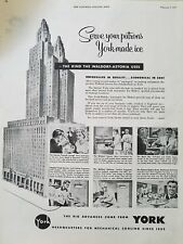1953 York air conditioning kind the Waldorf Astoria Hotel uses vintage ad