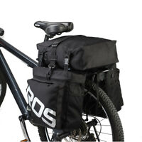 Hot 3 In1 Roswheel Bicycle Rear Seat Waterproof Bike Cycle Travel Pannier Bag