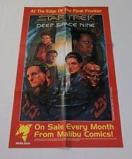 1993 Star Trek Deep Space Nine DS9 Marvel/Malibu Comics 23 by 14 promo poster 1