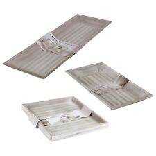 Distressed Shabby Chic Tray Classic Square Rectangle Serving Platter Decor NEW