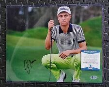 JUSTIN THOMAS AUTOGRAPHED SIGNED 11X14 PHOTO GOLF  BECKETT BAS