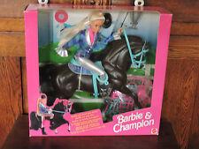 1994 Horse Riding BARBIE & CHAMPION  Set (Reitspass)  Mattel Multi-Lingual  NRFB