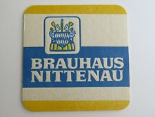 Beer Bierdeckel COASTER ~ Brauhaus NITTENAU Bier ~ Bavaria, GERMANY Breweriana