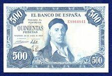 More details for spain, 1954 500 pesetas banknote, high grade (ref. b0801)