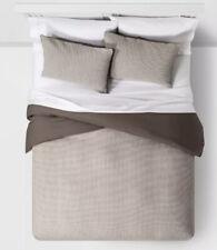 Threshold Washed Grey Gray Waffle Twin Duvet Cover/Sham Set New