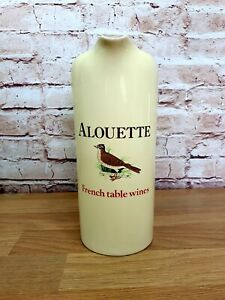 Vintage Wade pdm - Alouette French Table Wines - Ceramic Water Jug - 20cm High