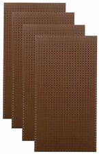 Set Of 4 Heavy Duty Brown 1/4x1/8 In. Pegboard Panels Durahook Wall Organizer