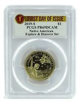 2019 S Sacagawea Dollar Explore and Discover Set PCGS PR69 - First Day Of Issue