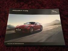 Jaguar F-Type Brochure 2019, UK Issue 118 pages inc R & SVR - Final ever printed