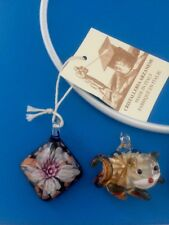 Lot Of 4 Murano Glass Beautiful Pendants Necklaces NEW