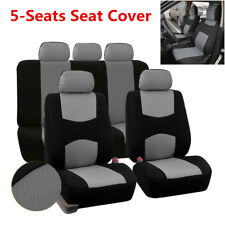 Universal Car Seat Covers Protector  Front & Rear 5 Bucket Gray For Car Auto SUV