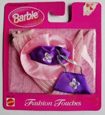 Barbie Doll Clothes Accessories Pink & Purple Hat, Bag & Hose NOS 1998 68651-92