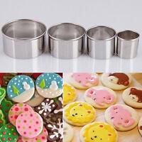 4x Fondant Cake Mini Metal Cutters Round Circle Sugar Craft Jewellery Cook-,
