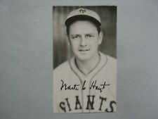 WAITE  HOYT  Hall  of  Fame/Giants  Signed  3 x 5   B & W  Photo  (Died in 1984)