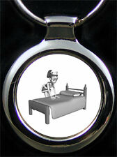 Chambermaid Hotel specialist Woman Keychain as picture ENGRAVING WITH TEXT ENGRAVING
