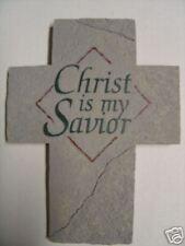 Christ is my Savior Cross Plaque
