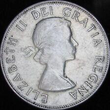 1956 XF+ (AU-)  Canada Silver 50 Cents (Fifty, Half) - KM# 53 - JG