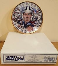 1993 Troy Aikman Collectible MiniPlate Sports Impressions