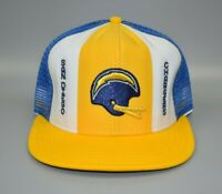 San Diego Chargers AJD Lucky Stripes NFL Vintage 80's Trucker Snapback Cap Hat