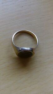 Gold Ring Men's Alexander The Great Black stone 9.375 30+ years old