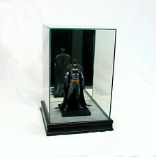 "1/10 Scale Comic Figurine Display Case 10"" Tall All Glass Black Sport Moulding"