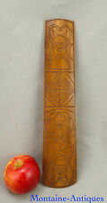 Antique Maple Chip Carved Busk w/ Heart 19th cent