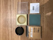 Nikon Polarising Filter 72mm in very good condition