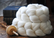 DOMESTIC MERINO Natural Ecru Undyed Combed Top Wool Roving Spinning Felting 4oz