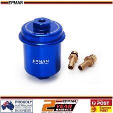 EPMAN Racing Universal High Flow Turbo NA Fuel Filter JDM Nissan Honda Blue